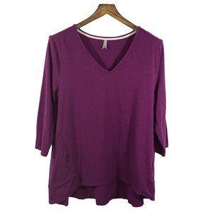 ☘️ JOCKEY Purple 3/4 Sleeve V-neck Sleep Top XL